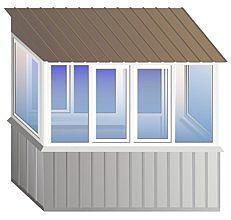 балкон с крышей